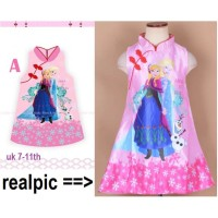dress frozen imlek/pink dress