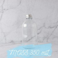 MOSS Glass Bottle 350 mL | Botol Kaca Tutup Stainless