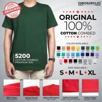Baju Kaos Polos Oblong Soft cotton Combed 30s Oneck Murah S M L XL