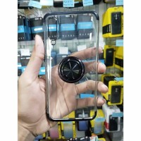 Samsung A30s/A50s - TPU Plating With I-ring Soft Case - Hitam