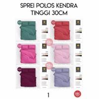Bedcover + Sprei KENDRA POLOS 200X200 TINGGI 30 warna Red White Coklat