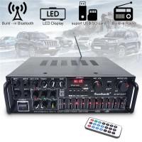 Power Amplifier Karaoke 2000W Digital Echo Mixer Equalizer Bluetooth