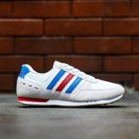 Sepatu Sneakers Pria Adidas Neo City Racer White France Original