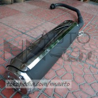 KNALPOT ASSY HONDA TIGER REVO + COVER Knalpot motor standard