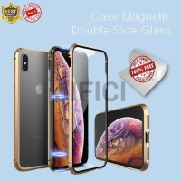 Iphone 11Pro Max, 11 Pro,11 double side glass magnetic case 2in1