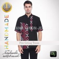 Kemeja Batik Pria Murah Lengan Pendek | Baju Batik Pria | Kemeja Tenun