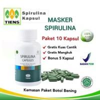 Spirulina Masker Wajah / Herbal / Obat jerawat Isi 10 Kapsul + Bonus 5