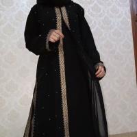 Baju Muslim Abaya Bordir Gamis Maxi Dress Arab Saudi Bordir Zephy