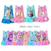Dress Anak Frozen Usia 2-13thn. Baju Pesta Cinderella, Sofia