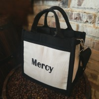 Tas Kanvas Tote Bag (Mini Bag/Korea Bag/tas selempang/Marhen J)