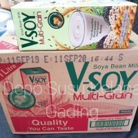 V-Soy Multigrain (1X12) Kartonan Susu Kedelai   Vsoy Soya Milk UHT