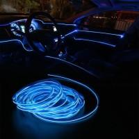 Lampu LED List Interior BIRU 5Meter Aksesoris Mobil Modifikasi