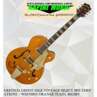 Gretsch G6120T-55GE Vintage Select 1955 Chet Atkins - Western Orange