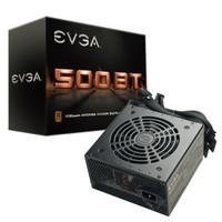 EVGA 500 BT, 80+ BRONZE, 500W, 3 Year Warranty, Power Supply 100-BT-05