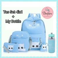 Tas Anak Tas Sekolah Perempuan Tas Backpack Baby Cat 4in1 Plus Botol
