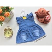 Baju Bayi Jeans Denim Dress Levis Anak Kantong Depan