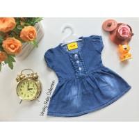Baju Bayi Jeans Denim Dress Levis Anak Kancing Depan