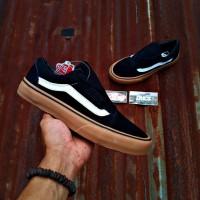 Sepatu Vans Oldskool Premium China IFC Hitam List Putih Coklat Black