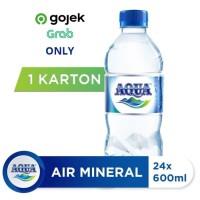 AQUA Air Mineral 600ml (24 botol) - (Gojek only)