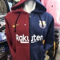 Jaket Hoodie Halfzipper Sweater Barca Barcelona Centenary 18 19 Grade