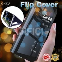 Oppo F11 Pro flip cover clear view miror case