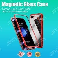 Samsung A10s magnetic glass 2in1 premium case