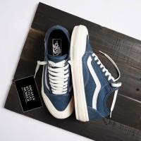 Sepatu Vans Old Skool Salt Wash Style 36 Decon SF Dark Denim Blue
