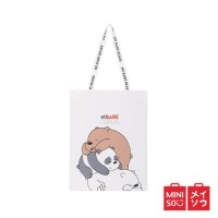 Miniso Official tas shopping We Bare Bears Lazy Shopping Bag