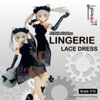 ATRHA Lingerie Lace Dress Scale 1/12 Frame Arms Girl, Megami Device