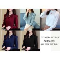 FortKlass OLYMPIA Baju atasan blouse wanita lengan panjang