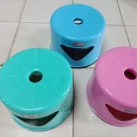BY GOJEK LS JPN Bangku Kursi Tempat Duduk Jongkok Bulat Plastik