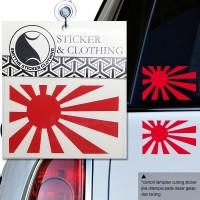 Stiker Nippon Rising Sun Logo Japan JDM Cutting Sticker Mobil Motor