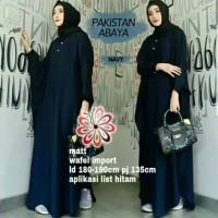 Baju Muslim Wanita Abaya Pakistan Navy / Gamis Size Jumbo Fit XXXL