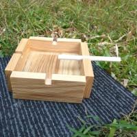 asbak kayu besar 12cm
