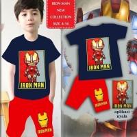 A637 LED Baju Anak Setelan London Kids Iron Man