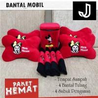 PAKET HEMAT BANTAL MOBIL MICKEY MINI MOUSE - DISNEY MICKEY - PAKET A