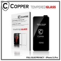 Iphone 11 Pro - COPPER Tempered Glass PRIVACY ANTI SPY