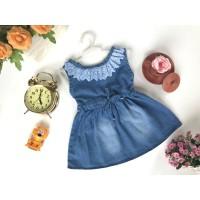 Baju Bayi Jeans Denim Dress Levis Anak Renda 6-18