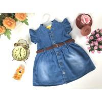 Baju Bayi Jeans Denim Dress Levis Anak Gesper 6-18 bulan