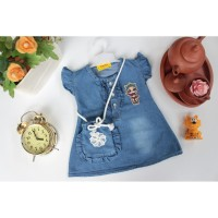 Baju Bayi Jeans Denim Dress Levis Anak Kartun LOL