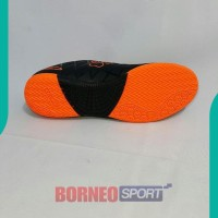 NEW SEPATU FUTSAL KELME - KELME STAR 9 Black Orange ASLI