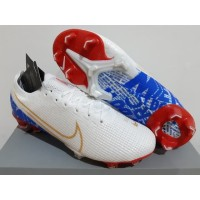 Sepatu Bola - Soccer Nike Mercurial 13 Elite White Gold Blue - FG