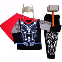 Baju Kostum Anak Thor Dengan Palu 1thn - 6th / Baju Karakter Kaos Kado