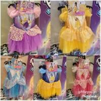Baju Dress Gaun Kostum Anak Princess Rapunzel Belle Cinderella Aurora