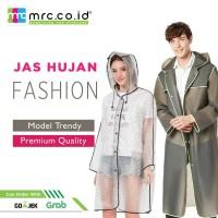 Jas Hujan Fashion Modern Trendy Pria Wanita - GREY L