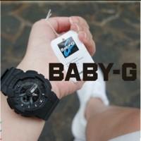 JAM TANGAN WANITA BABY G BA110 HITAM LIS HIJAU
