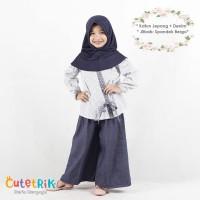(3-12 tahun) CTB 14 Baju Muslim Anak Cutetrik Tunik Kulot Denim