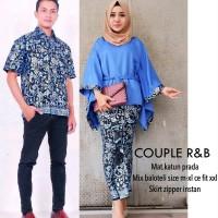 Terlaris Setelan Baju Kemeja & Kebaya Batik Couple Rabbani Set New