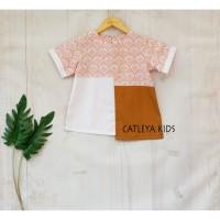 Baju Atasan Batik Anak Perempuan Lotus Series Pink Lavender