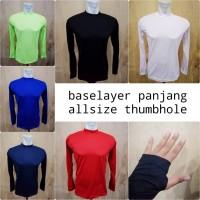 Baselayer panjang manset baju jersey bola dalaman baju base layer long